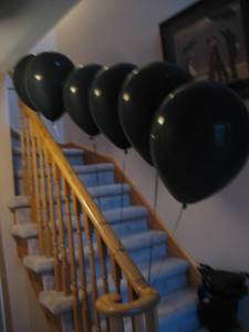 LOST Party - Balloon Smoke Monster on Stairs