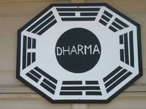 LOST Party - Dharma Sign on My Garage Door